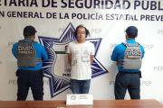 PRESUNTAMENTE VENDÍA DROGA EN UN ESTACIONAMIENTO; LO DETIENE LA POLICÍA ESTATAL