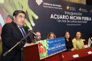 ACUARIO MICHIN SUMARÁ A LA CONSTRUCCIÓN DE PAZ EN PUEBLA