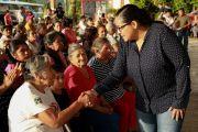 ENTREGA LUPITA VARGAS CALENTADORES SOLARES EN LA COLONIA EL MIRADOR.