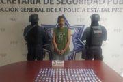 EN ATLIXCO, POLICÍA ESTATAL CAPTURA A PRESUNTO DISTRIBUIDOR DE DROGA