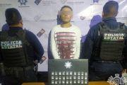 DETIENE POLICÍA ESTATAL A PRESUNTO NARCOMENUDISTA EN TEPEXI DE RODRÍGUEZ