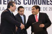 FORMALIZAN CONVENIO DE COORDINACIÓN Y COLABORACIÓN LOS GOBERNADORES MIGUEL BARBOSA Y MARCO MENA