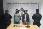 POLICÍA ESTATAL Y MUNICIPAL DE AMOZOC CAPTURAN A PRESUNTOS ASALTANTES