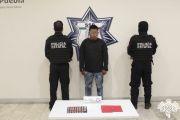 EN CORONANGO, POLICÍA ESTATAL DETIENE A PRESUNTO NARCOMENUDISTA