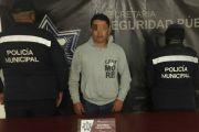 DETIENEN POLICÍA ESTATAL Y MUNICIPAL A NARCOMENUDISTA EN TEXMELUCAN